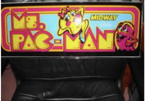 A Ms Pac-man Glass Marquee, extremely hard to find!